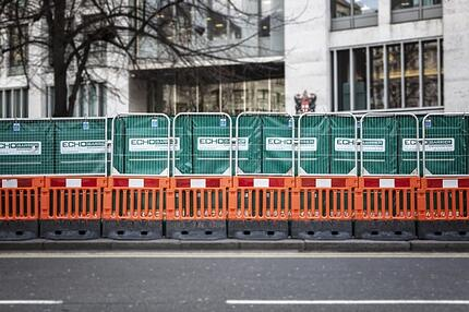 Echo Barriers on the road