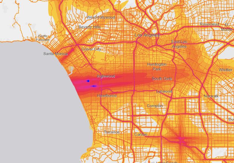 City Of Sounds Noise Map Of Los Angeles