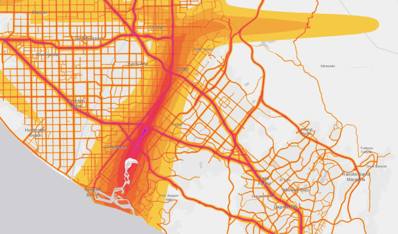 orange county noise pollution map