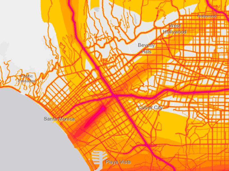 Westside LA noise pollution map