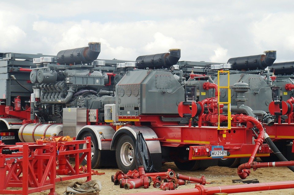 hydraulic fracking trucks