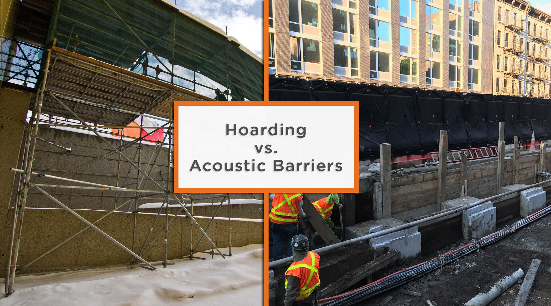Hoarding vs. Acoustic Barriers