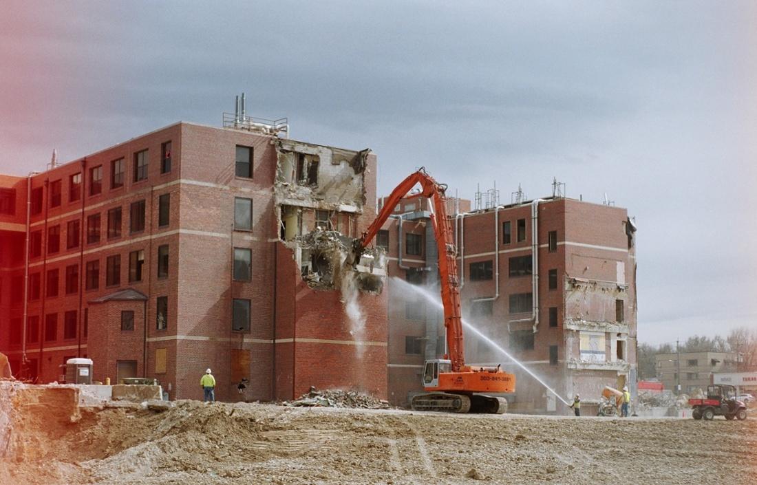 Control demolition dust